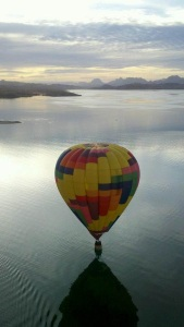 Ballooning over Lake Powell